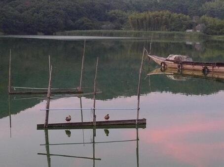 廣澤的黃昏的池塘2