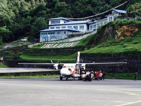 ネパールの世界一危険なルクラ空港