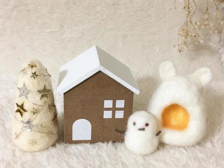 White Christmas decoration (sideways)