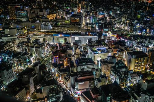 Night view of Ikebukuro station 2