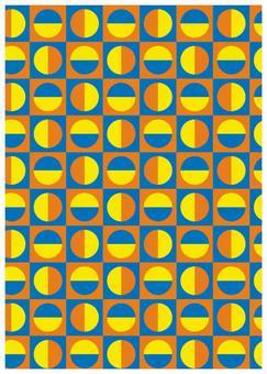 Geometric texture Small semicircular yellow
