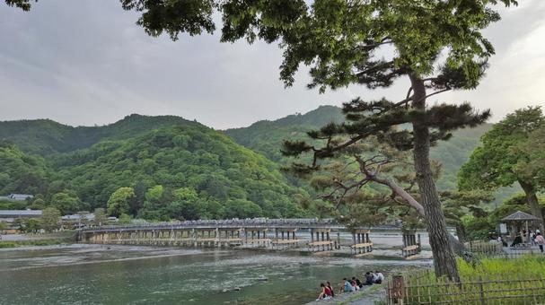 Kyoto Arashiyama · Togetsu Bridge and Oyugawa river 1