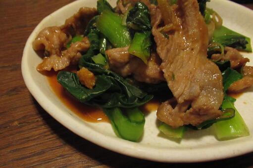 돼지 고기와 소송 채 볶음 수제