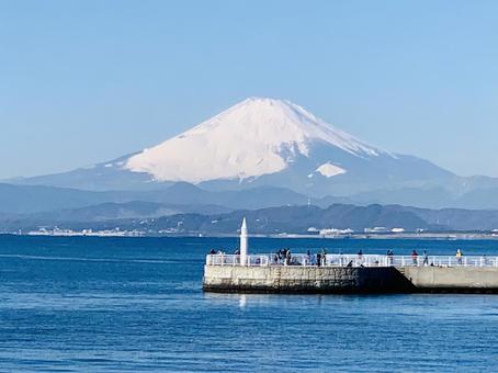 에노시마에서 후지산의 절경
