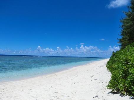 하얀 모래와 푸른 하늘