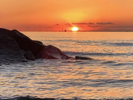 Makuhari Beach Sunset