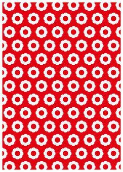 Scandinavian design floret red