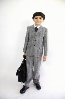 Child with a suit with a bag 5