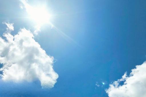 夏日的天空,陽光明媚