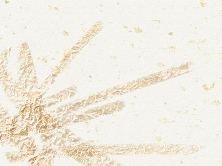Background material White texture with silver gold leaf