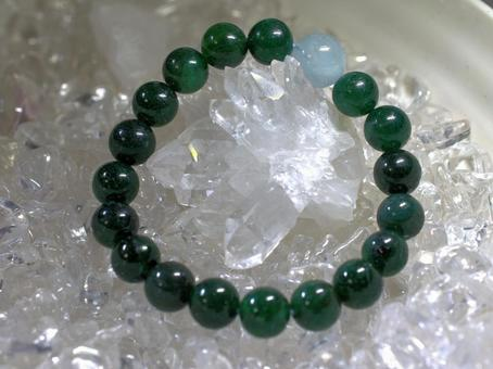 Power Stone Green Malachite and Crystal
