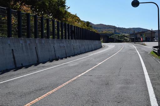 Mountain road Yamagata prefecture