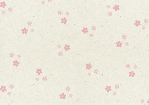 Japanese paper background 3 cherry blossoms. tea