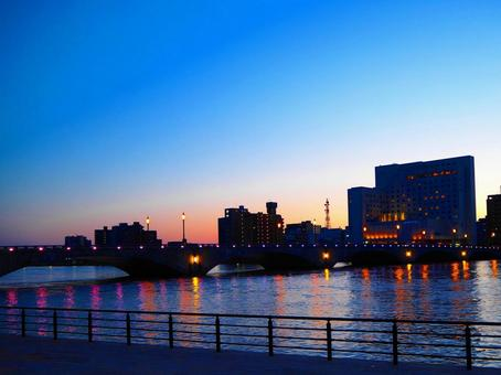 Bandai Bridge evening view