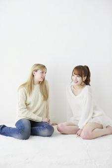 Female friend Foreigner and Japanese 18