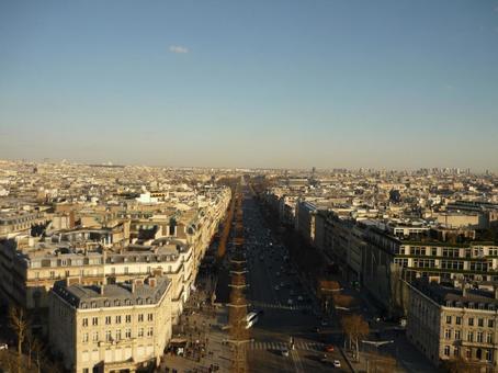 パリを上空から見た景色 4