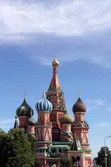 모스크바 바실리 성당 (맑음)