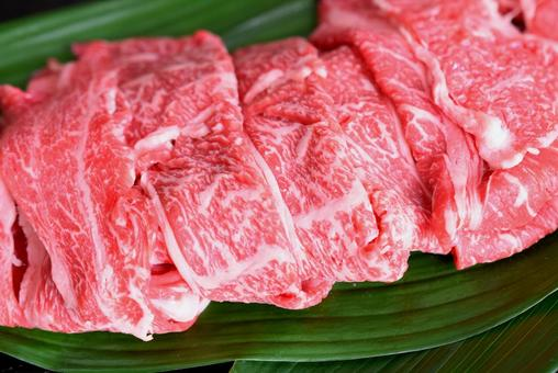 Wagyu beef, sliced meat, marbled meat