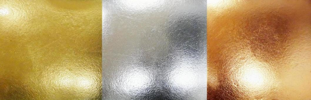 Gold, silver and copper background material