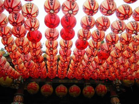 台湾の赤いちょうちん