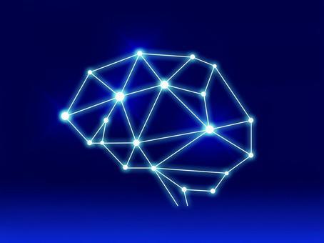 Simple brain AI style material _PSD