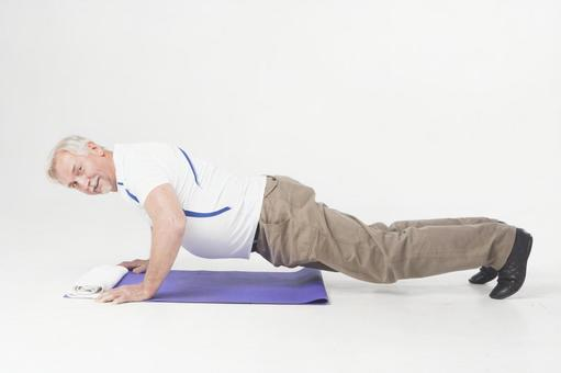 Foreigner elderly male 2 to push up