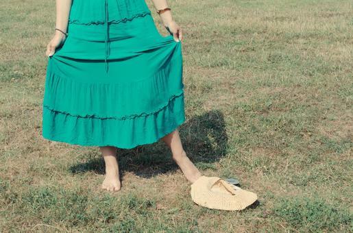 Serbian women raising the skirt skirt