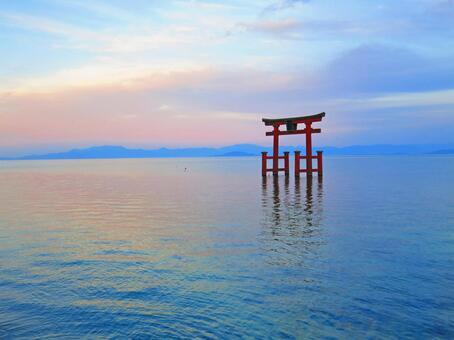 Shirahigi Shrine · Lake Middle Otorii 5