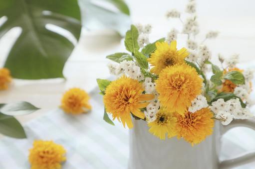 Decorate summer flowers