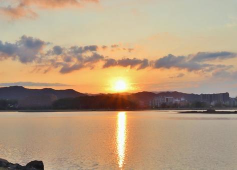 New Year New Year First Sunrise New Year's Card Sunrise Asahi Sea Sky Sun Glitter Morning Morning Sea Coming Light Sunrise Dawn New Year
