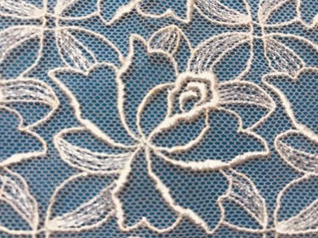 Lace background material 2 light blue