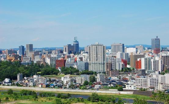 Sendai's street scenery