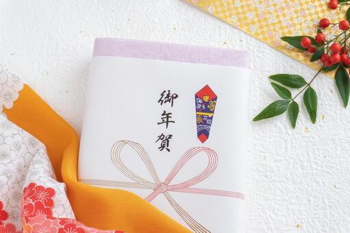 New Year's greetings, southern sky and plum pattern furoshiki