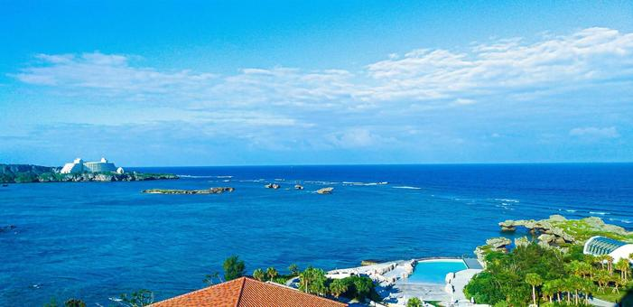 View from the hotel in Okinawa