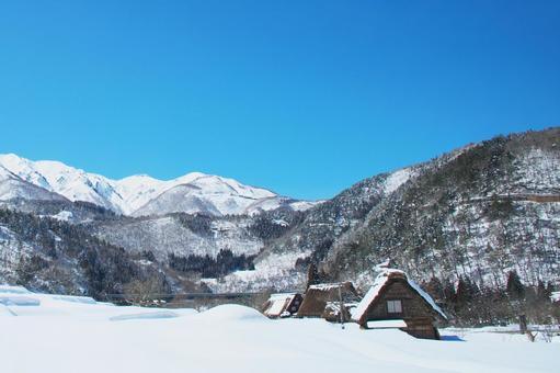 Shirakawago of heavy snow
