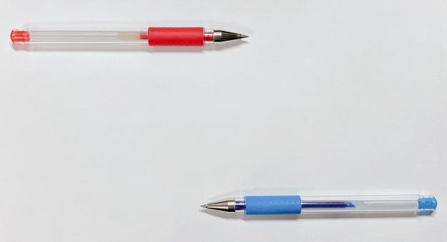 빨간 펜과 파란색 펜 4 (프레임 이미지)