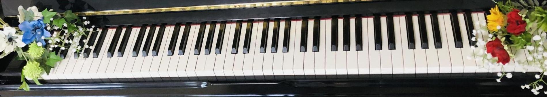Line flower keyboard piano