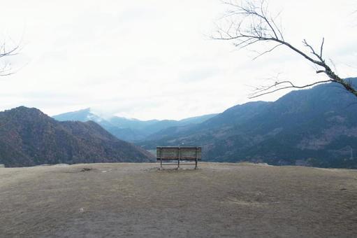 景觀_武田城堡遺址_長凳_懷舊_背景