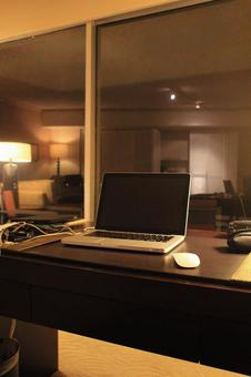 Desk and notebook