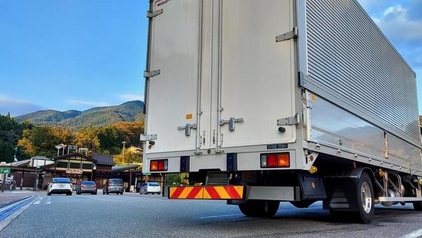 Truck Misaka parking area