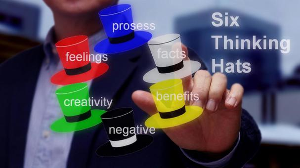"""Revitalize meetings from six perspectives """"Six Thinking Hats"""""""