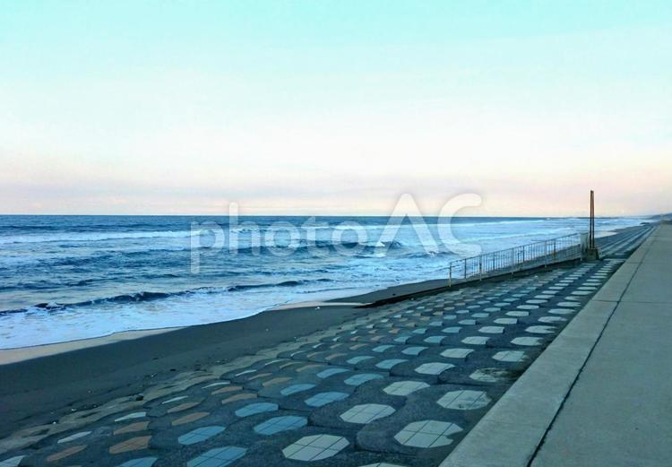 茨城県鉾田市の海岸の写真