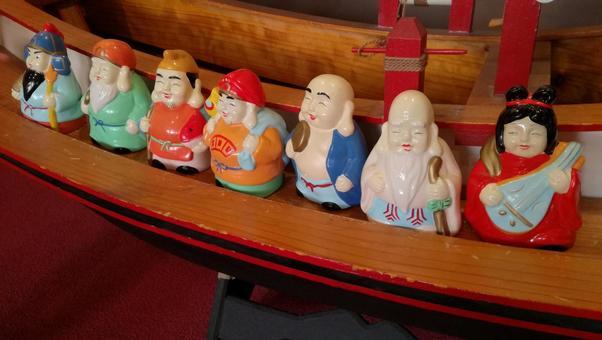 Seven Lucky God Figurines