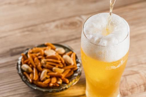 Beer Beer and snacks