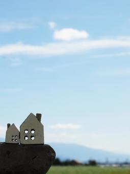 집 소품 2 하나님과 절벽과 푸른 하늘과 구름 _ 세워