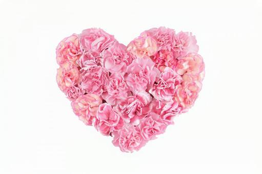 Carnation heart (pink)