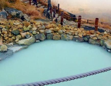 Sulfur hot spring in Hakone