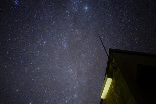 北極星的星空