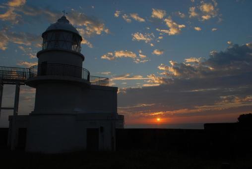 Asahi and Kashinozaki Lighthouse