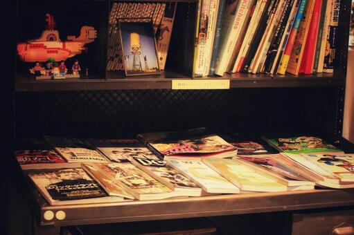 Magazine space in the cafe